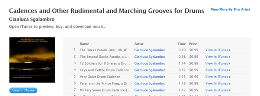 gianluca sgalambro itunes snare drum cadences and other rudimental and marching grooves for drums